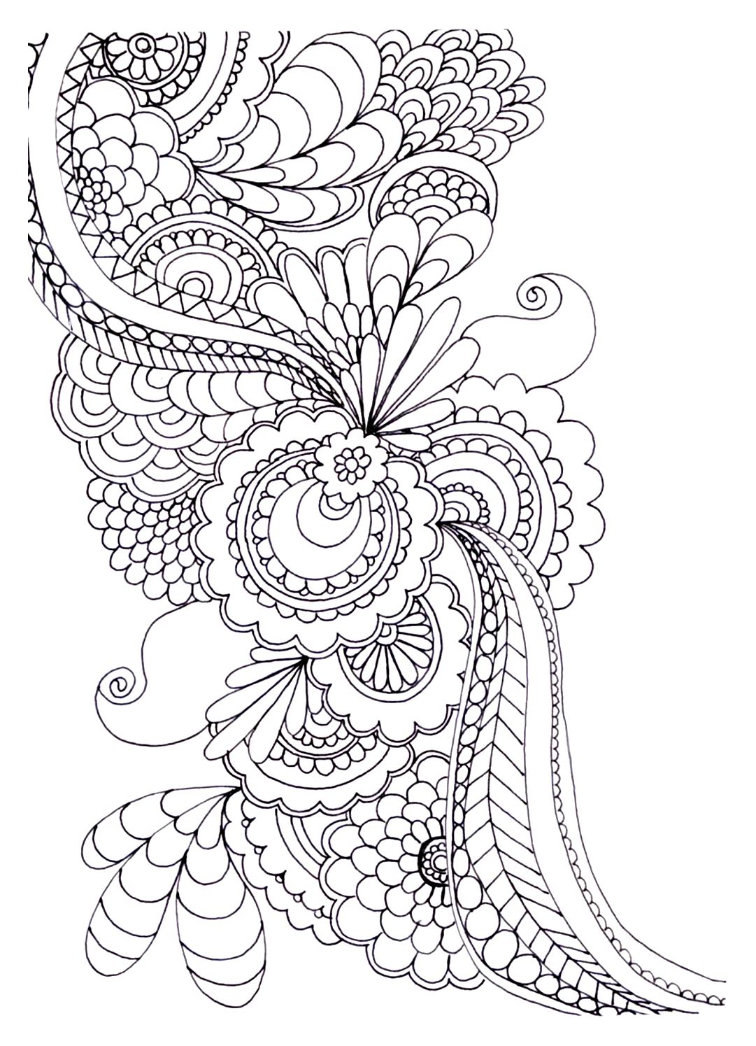 20 free adult colouring pages the organised housewife for Coloring pages to print for adults