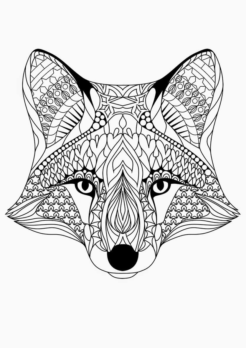 Wolf mandala coloring pages - Get Creative With These Abstract Adult Colouring Pages Which Are Also Fun For The Teenagers