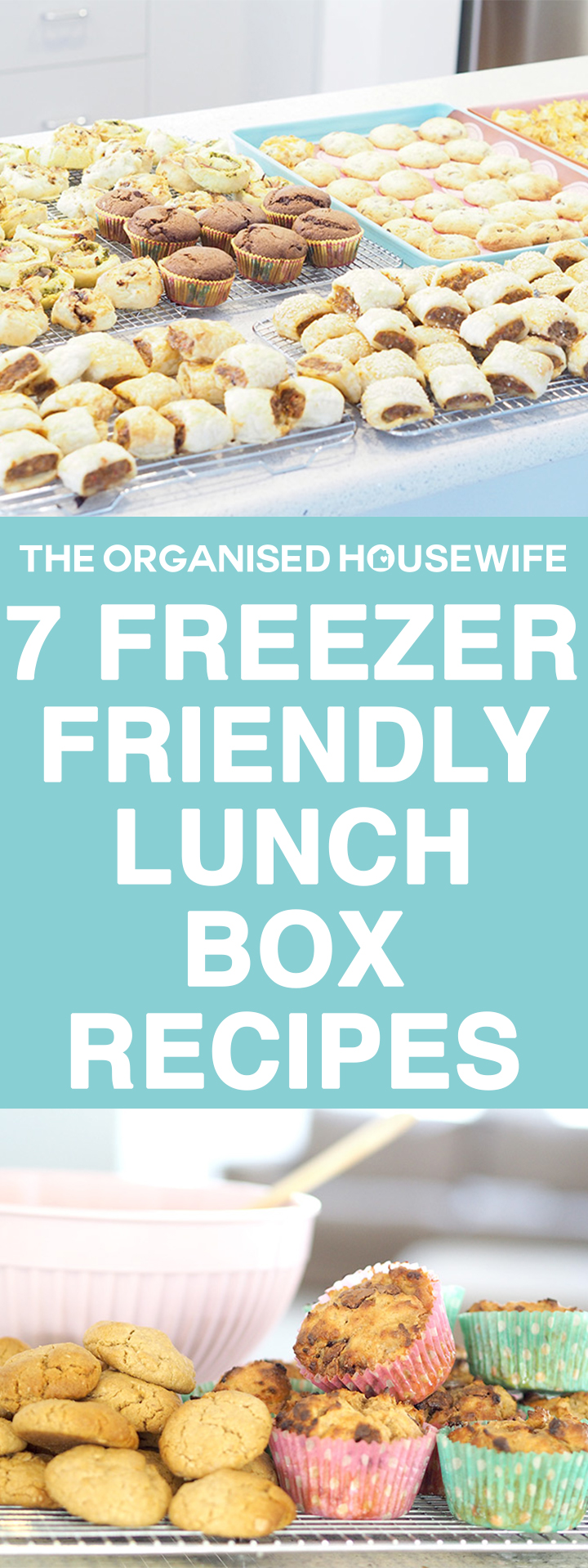 Towards the end of the school holidays I spend a few hours doing a big bake up of Freezer Friendly Lunch Box Recipes so the kids have snacks on hand to add to their school lunchboxes. I find this really helpful as some weekends I don't have time to bake something new for the upcoming week.