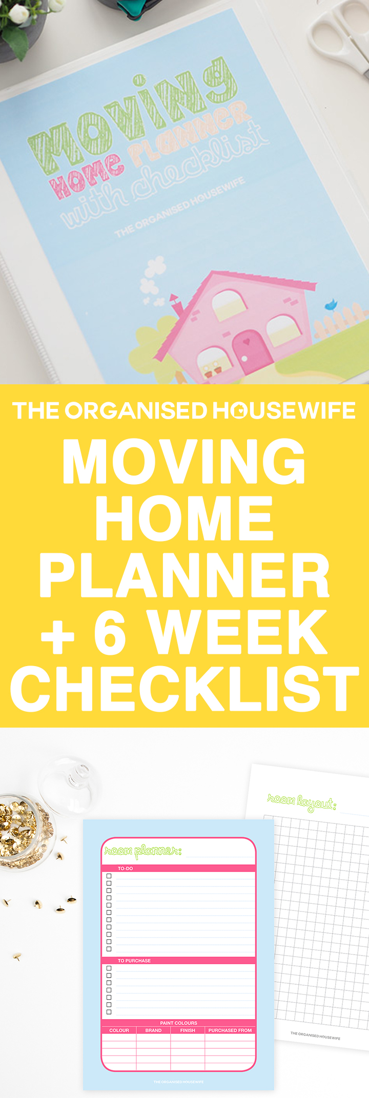 Wanting to create your next move as stress free as possible? This helpful moving planner will help you organise your move, with checklists for all elements of moving, you'll find everything you need to eliminate the overwhelm and be able to focus on being ready and stress free for the day you move house.