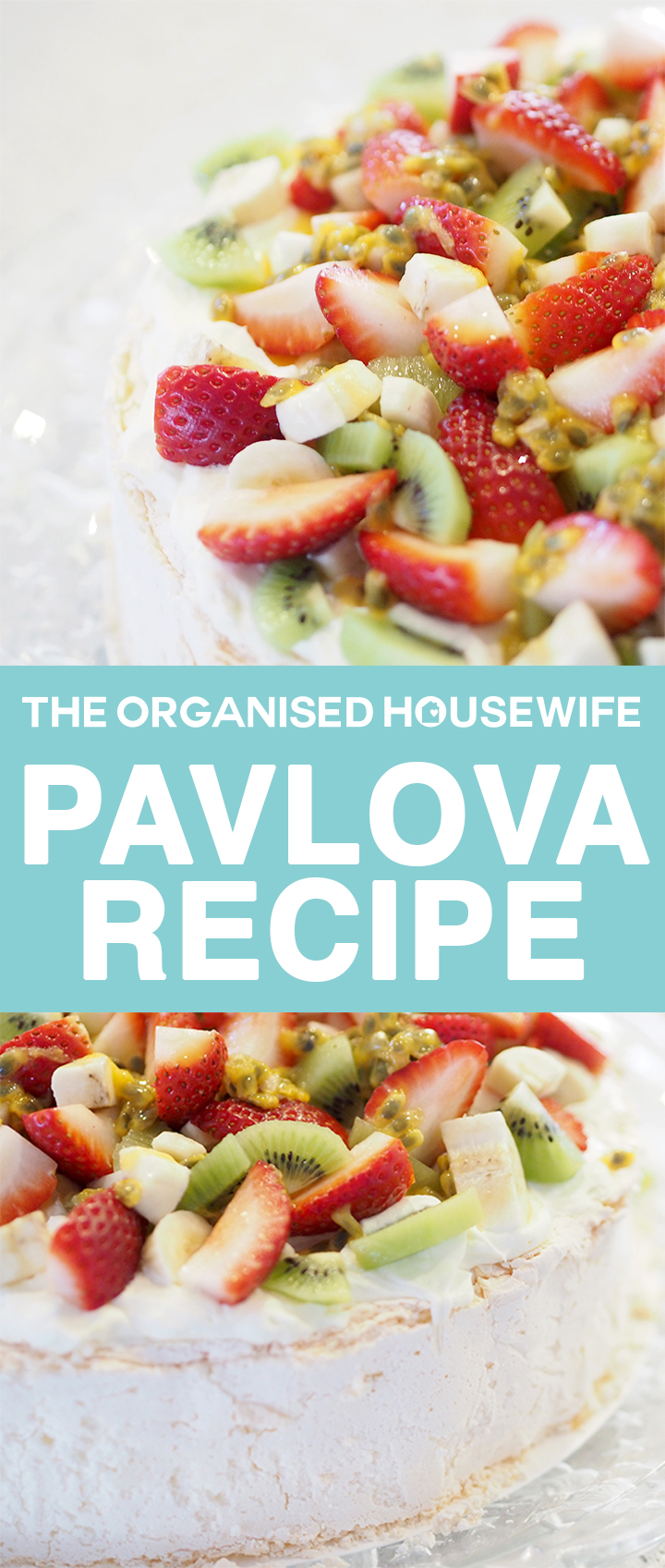 Pavlova is a light meringue dessert topped with whipped cream and fresh fruits. It's always a crowd pleaser and tastes amazing. It's crunchy on the outside but has a soft as marshmallow inside.