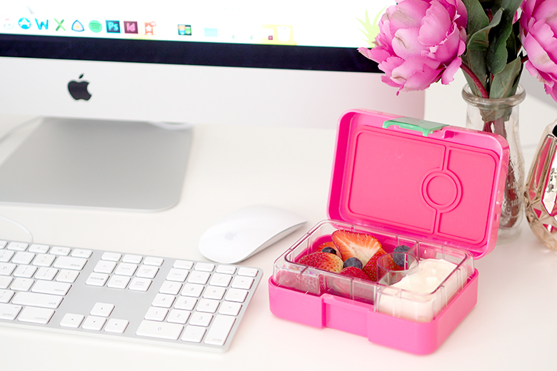 Yumbox MiniSnack are the perfect little size for morning tea, before and/or after school snacks, school, kindy, work or as I do pack healthy snacks for home