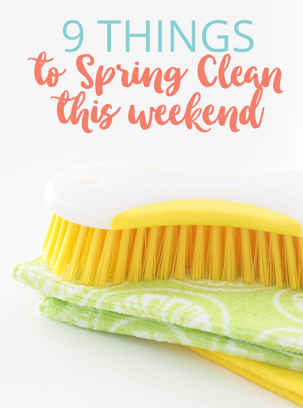 I've listed a few things to Spring Clean this weekend, jobs that aren't normally completed in a regular cleaning routine.