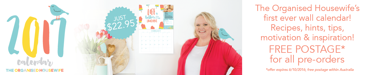 The Organised Housewife 2017 Calendar