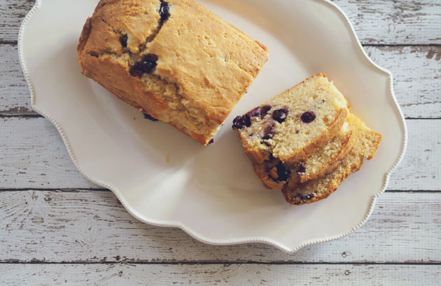 BLUEBERRY YOGHURT LOAF - Yoghurt is one of those things that we have every intention of eating daily and using up, but it's one of those foods that always seems to be left at the back of the fridge. Raid your fridge and whip up something with what you already have for Dad
