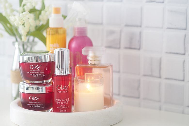 The Olay Regenerist Micro-Sculpting Night Cream has a unique gel-like formula for overnight protection against transepidermal water loss. The lightweight feel means that you can sleep with it on and not have to worry about that greasy feeling.