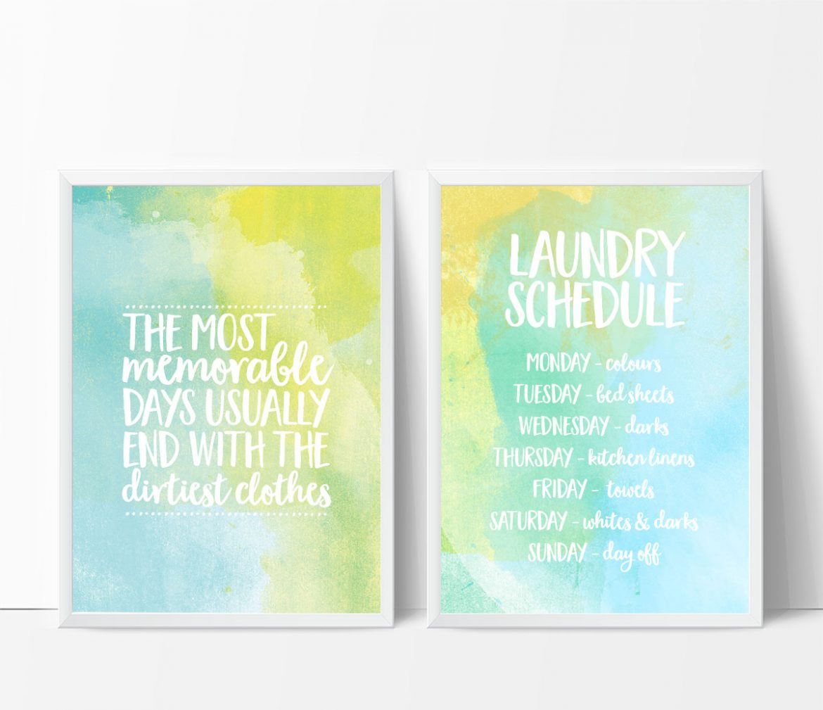 personalised laundry schedule