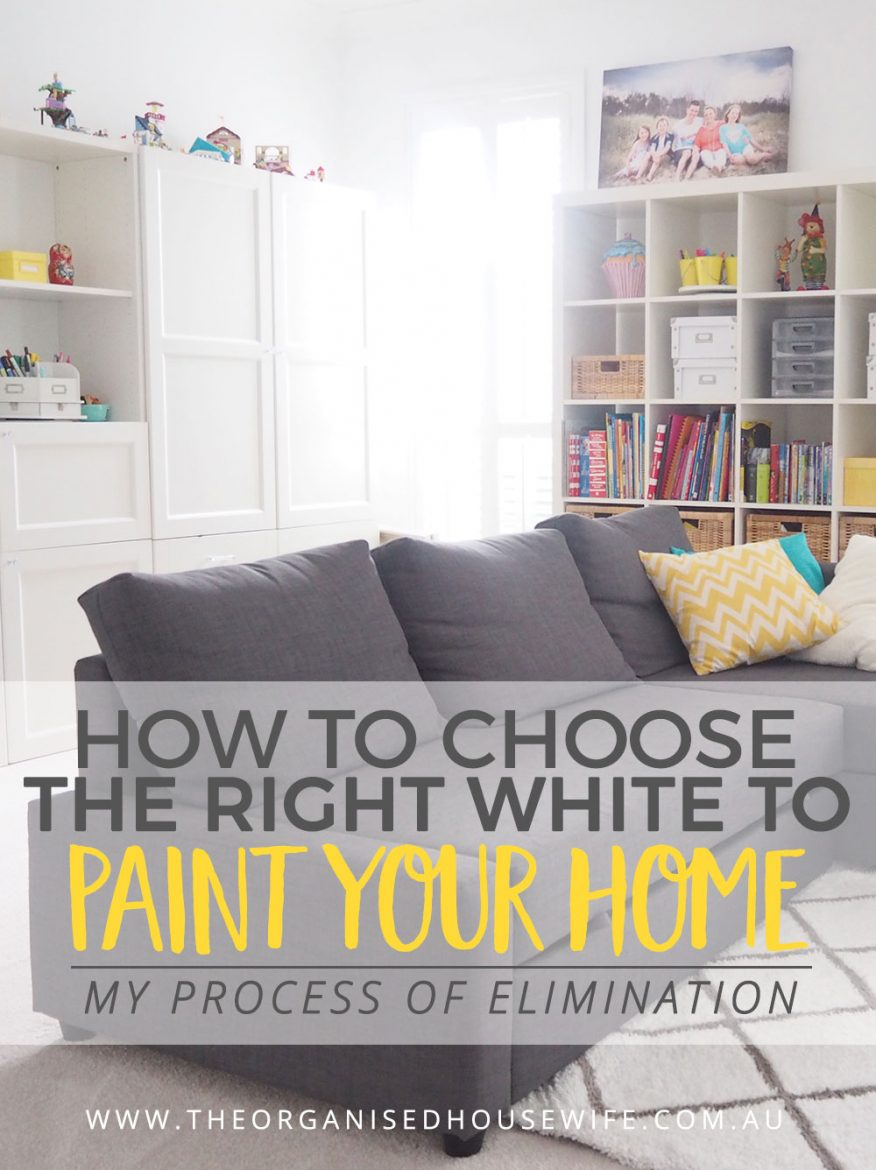 Confused is an understatement.  Did you know there are so many shades of white? White is not just plain old simple white these days.  There is white with a hint of black, blue, yellow, pink, warm whites, icy whites. I've shared my process on how to choose the right white to paint your home.