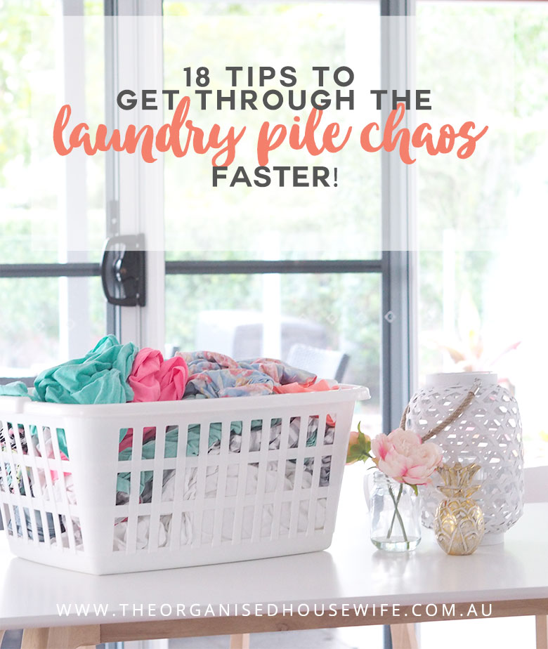 Laundry is just one of those tasks that we love to hate... it's never ending and can easily take days to get on top of once it gets out of control. If you have a growing pile of dirty laundry and you dread laundry day, then here are some tips to get through the laundry pile chaos faster, to make the process a little bit easier and to make this 'ground-hog day of a task' more efficient!