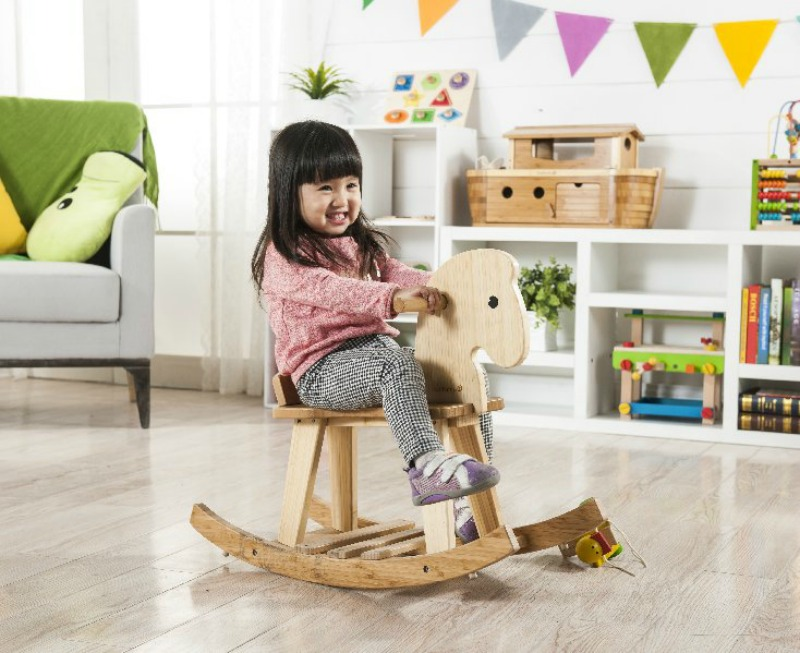 2016 Christmas Gift Idea for Baby - BAMBOO ROCKING HORSE Beautiful, traditional, natural bamboo rocking horse can be enjoyed again and again and become a cherished childhood keepsake. Helps promote balance and muscle development.