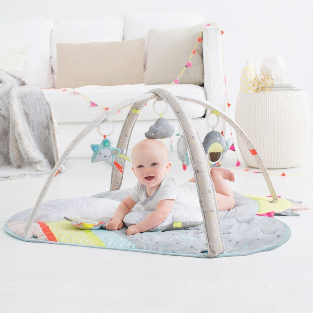 2016 Christmas Gift Idea for Baby - ACTIVITY GYM Five celestial-themed hanging toys will engage baby with lights, music and other stimuli while the cushy mat offers ultimate, cloud-like comfort. Such amazing quality and sensory feels. It's plush soft mat was designed so it can be modified to grow with your baby - from a floor activity gym to provide stimulation and enjoyment to a everyday floor mat - great for taking away on your travels or everyday use.