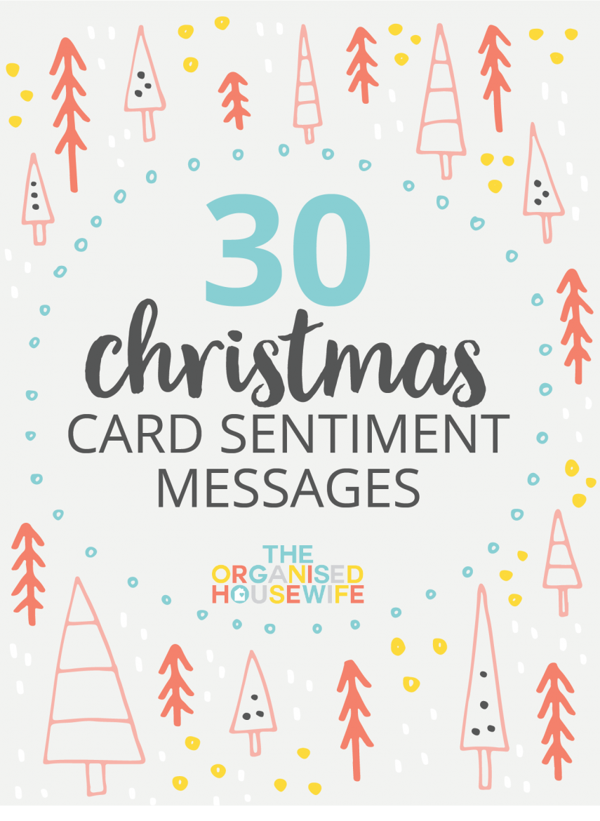 30 CHRISTMAS CARD SENTIMENT MESSAGES The Organised Housewife – Words for Christmas Card