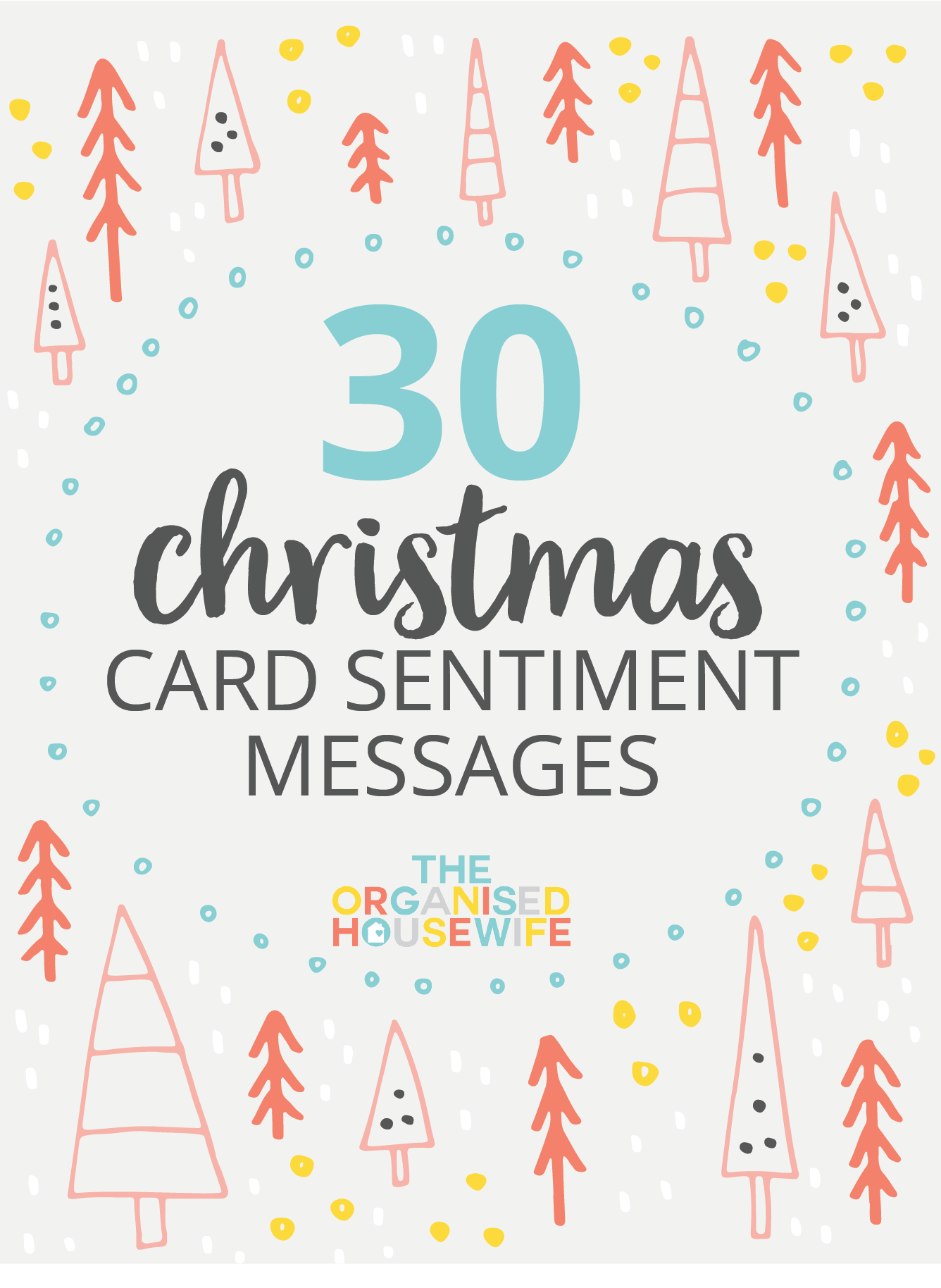 30 christmas card sentiment messages the organised housewife - Non Photo Christmas Cards