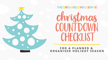 The Organised Housewife Christmas Countdown Checklist