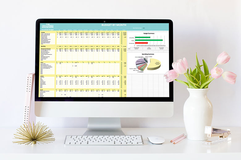 HOUSEHOLD BUDGET - An easy to use family household budget for Microsoft Excel is an essential tool for all families that are serious about tracking their spending and wanting to save. This spreadsheet will help you compare your actual spending to your intended budget each month.