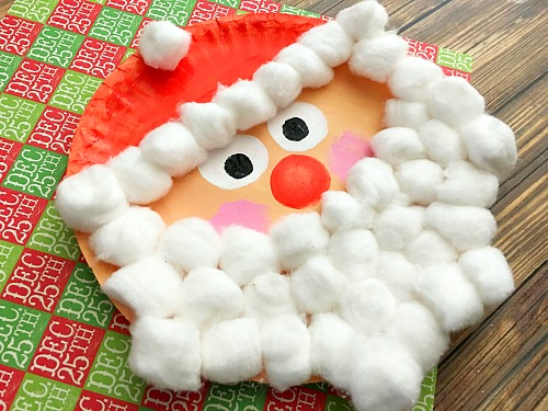 CHRISTMAS CRAFT IDEA - SANTA PAPER PLATE CRAFT - These are inexpensive, a lot of fun, and take a decent amount of time. Not too long, but also not so little time that the kids are done and looking for something else to do in minutes. When the kids are finished, find a place to put them in their room so they can have something festive in there.