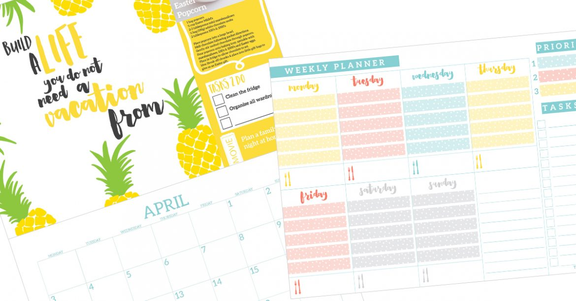Save with this bundle, you will receive a 2017 Wall Calendar and a Weekly Planner pad.