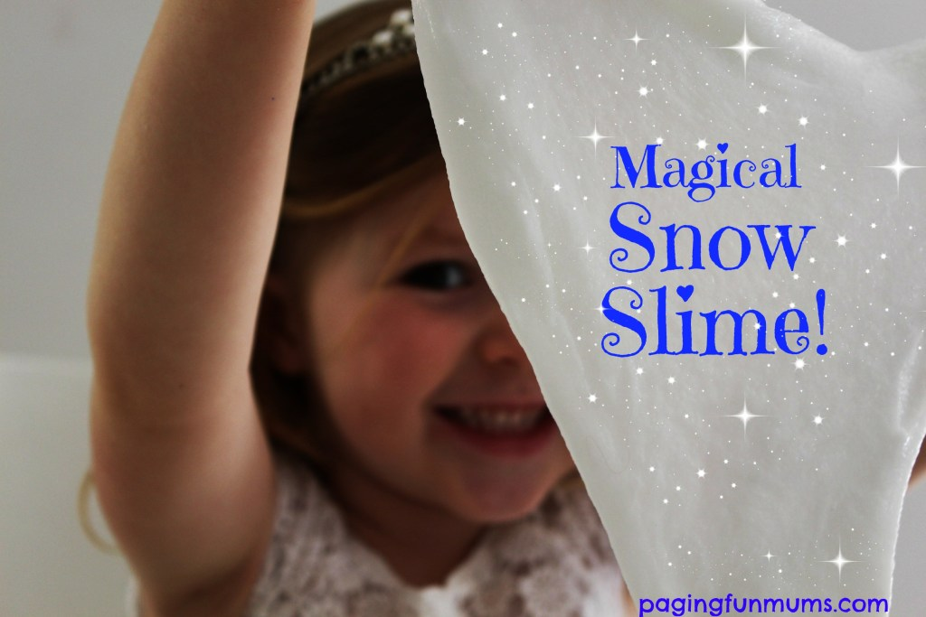 CHRISTMAS CRAFT IDEA - SNOW SLIME - If your kids are anything like mine and love anything to do with slime, this snow slime recipe is great fun and can turn even the hottest of Australian Christmases into a White Christmas (kind of).