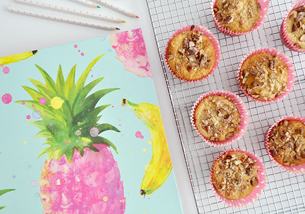BANANA AND OATBRAN MUFFINS - A healthy after school snack for the kids or leave out the nuts (if not permitted at your school) and add to the kids school lunchbox.