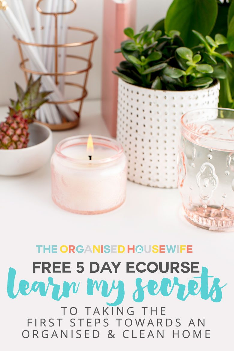 Are you feeling overwhelmed at the sight of your home? Are you struggling to know where to even start? Or maybe you just can't be bothered and lack motivation? I can help! For the first time ever, I am offering a FREE Mini eCourse that shares my secrets to taking the first steps towards an organised and clean home... STARTS THIS MONDAY!