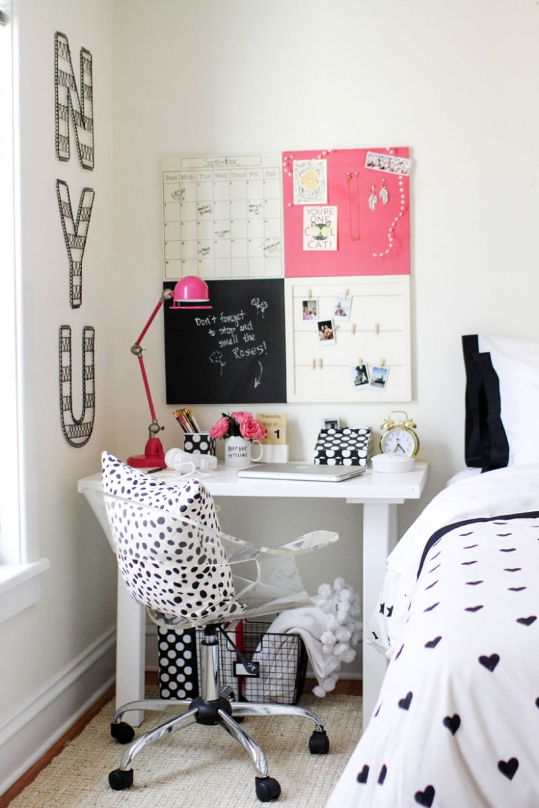 Styling ideas for teen girls desks the organised housewife for Bedroom styling ideas 2017