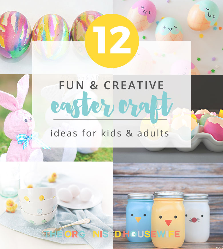 Easter is a fun time because there are so many cute crafts you can make and shape. From egg decorating to painting, kids love this time of the year because their creativity can be unleashed! Over the years I have loved keeping their work of art out on display throughout the home to get into the Easter spirit. Here are 12 fun Easter craft ideas to inspire you to create with your kiddies.