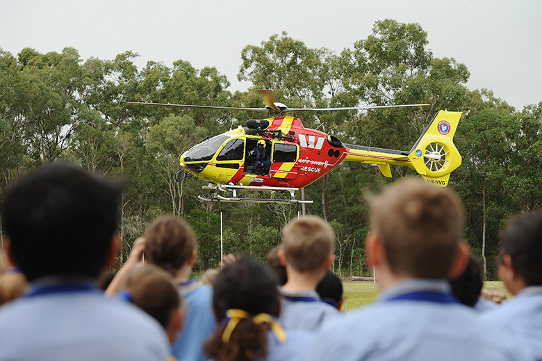 The Westpac Lifesaver Rescue Helicopter Service Schools Program is available to primary schools throughout Australia. In order to educate and make young people aware of the amazing service the WLRHS provides to communities all over Australia, the Schools Program was introduced. By incorporating fun and interactive materials, young people are able to gain an awesome insight into the careers of the crew members. The interactive programs and video materials are produced to educate and assist schools in providing a solid understanding and importance of this community service. Some schools are also lucky enough to have a helicopter visit their school oval.