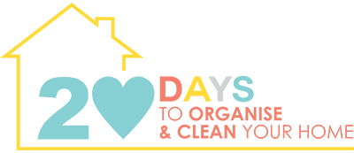 Struggling to find the motivation to clean your house? Don't know where to start? Feeling lost? Overwhelemed? Disheartnened? I can help! With my Seriously Simple STEP-BY-STEP 20-DAY ACTION PLAN for an Incredibly Clean & Organised Home – Even if you dislike Cleaning, Cooking and Chores!