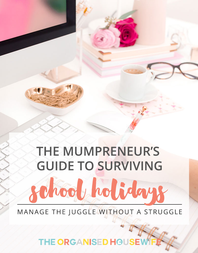 Michelle has shared her tips on how you can work and also spend time with the kids too at holiday time. This is her guide to surviving the school holidays.