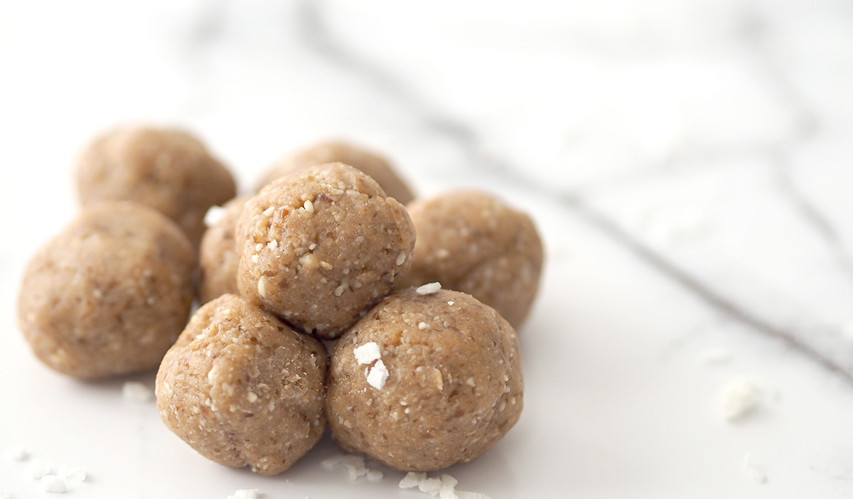 Looking for a healthy snack that will help give you a boost of energy on a tired afternoon? These coconut Bliss Balls are filled with natural sweetness for that natural energy boost you're looking for!