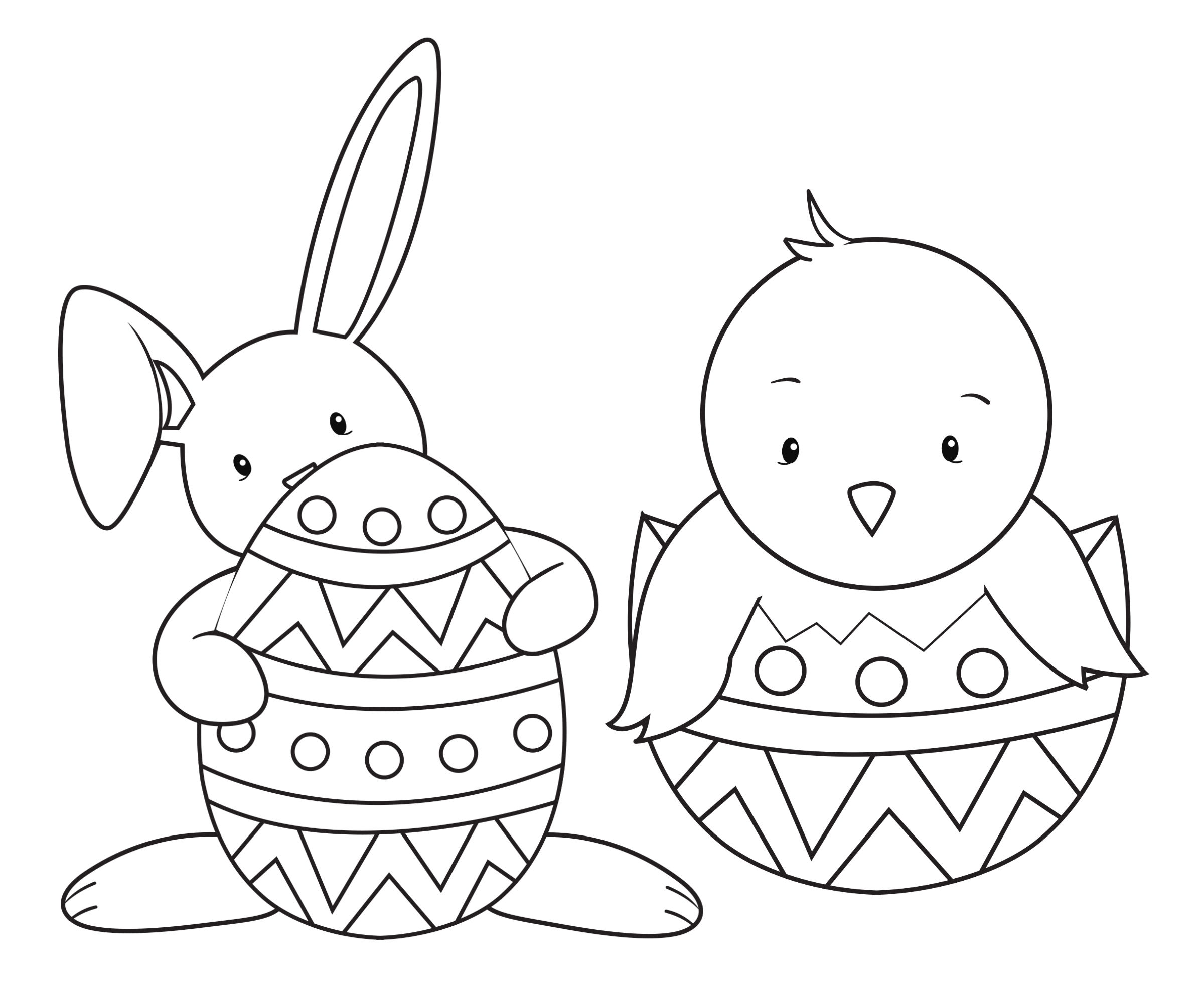 15 Easter Colouring In Pages