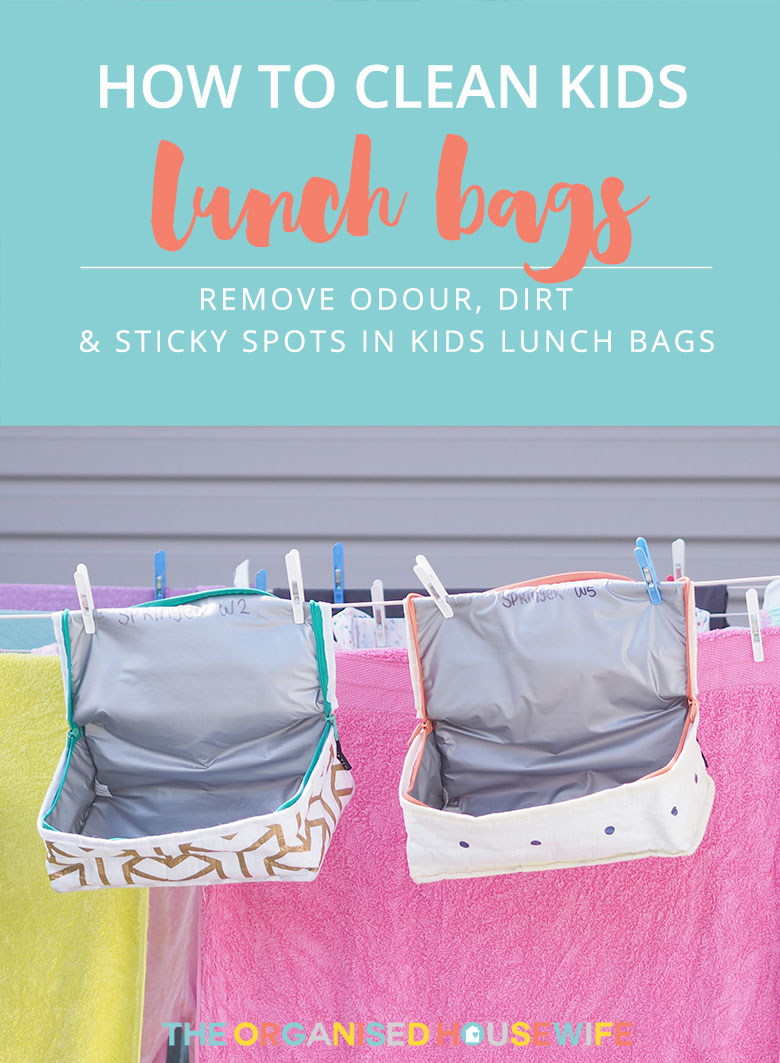 How to clean insulated lunch bags & remove odour