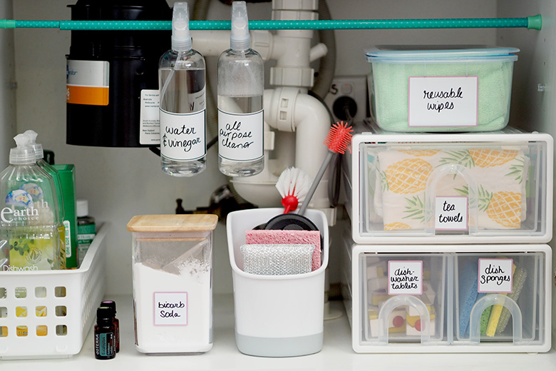 How To Organise Under The Kitchen Sink