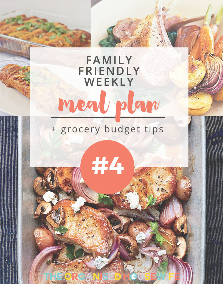 Coming up with meals one day at a time can mean that you are forced to do multiple grocery trips during the week. Consider meal planning in order to save time, money and effort. This weekly meal plan #4 was kindly provided by Leanne.