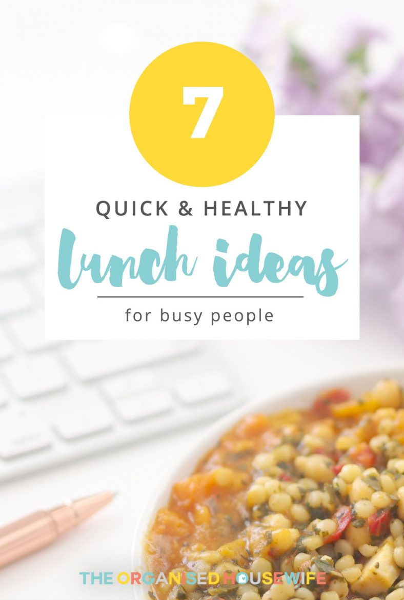 This post is simply about providing you with quick and healthy lunch options that will help fuel you for the rest of the day. Also, this isn't limited to mums, it's for everyone that needs a few lunch alternatives to fit into their busy lives! Here are my 7 Quick and Healthy Lunch Ideas For Busy People.