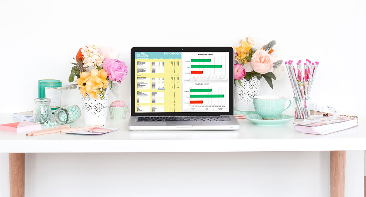 Create a budget with The Organised Housewife Household Budget