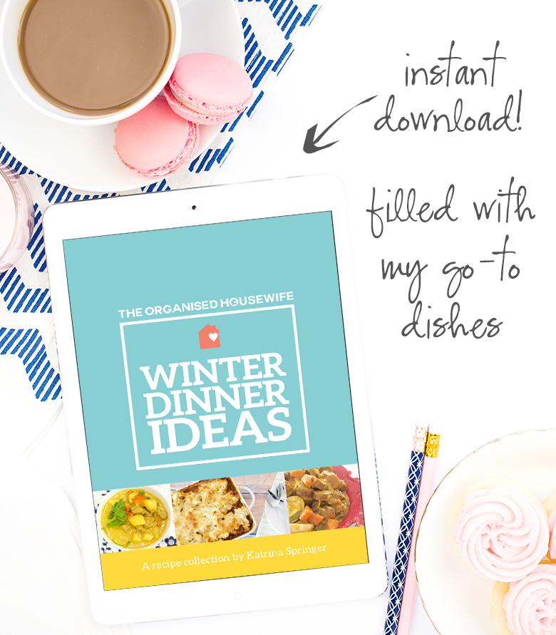 Winter dinner ideas ebook by The Organised Housewife