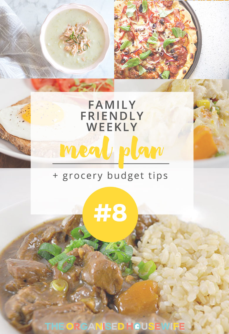 It's that time of week again for my latest family weekly meal plan. I think you would have already guessed by now how much I love meal planning and how beneficial it is to your schedule and wallet! I hope you can find a meal or two on here to inspire your meal plan this week.