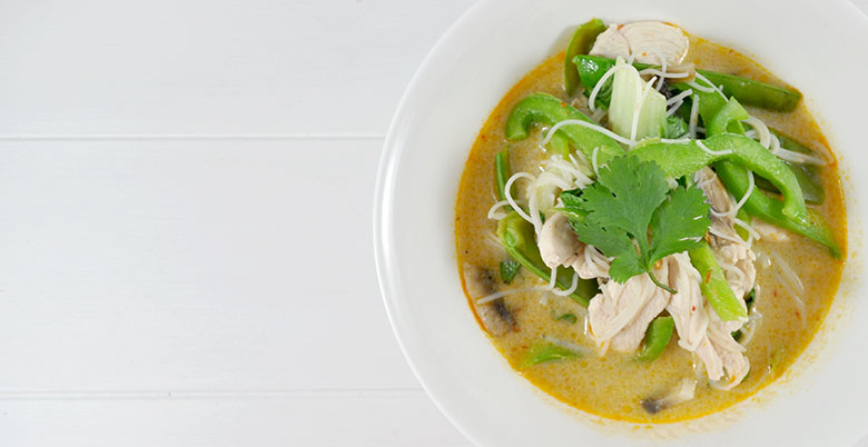A healthy, delicious Chicken Laksa soup that not only soothes the throat but can help with the decongestion. This Chicken Laksa has a little kick that takes it a step further helping clear that blocked nose.