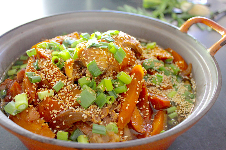 There are many advantages of using a slow cooker, like buying the cheaper cuts of meat that cook tenderly over a slow heat. Cook healthy efficient meals for your family. This Honey Soy Chicken Recipe will be a favourite for the whole family with it's sweet and juicy chicken pieces.