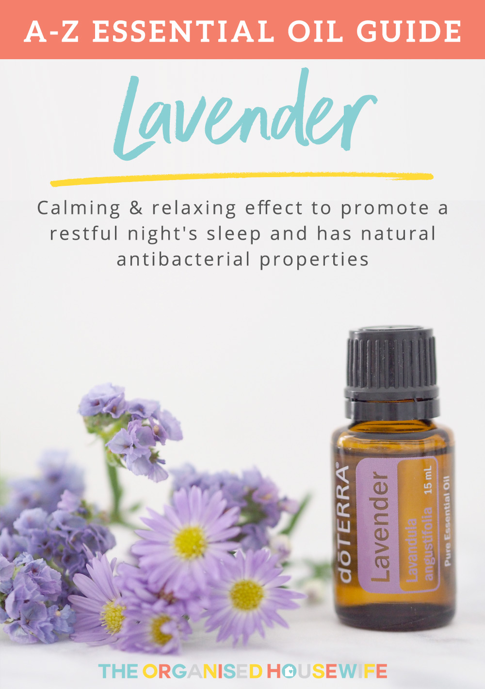 Lavender essential oil is one of the most versatile of all essential oils. With its relaxing effect to soothe and calm the body and mind to promote a restful night's sleep and reduces feelings of anxiety and restlessness. Along with its natural antibacterial properties it's a great item to have on hand for DIY cleaners.
