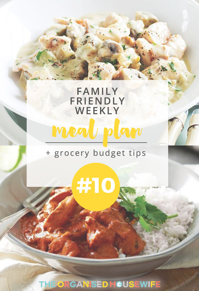 "One of my lovely readers Katrina (great name) kindly shared her weekly meal plan. She exclaimed, ""I love meal planning, it certainly makes dinner time less stressful and grocery shopping quicker and easier!"" I totally agree and that's why I make it a priority to sort out my meal plan for the following week."