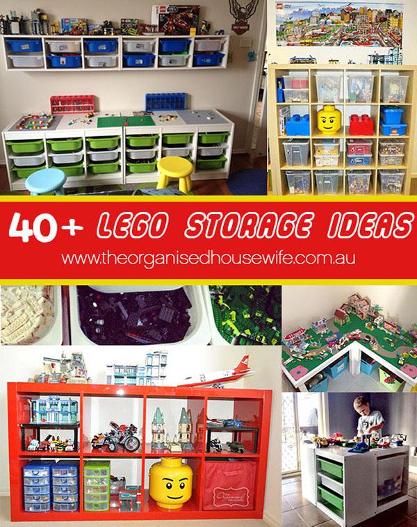 40+ Lego storage ideas