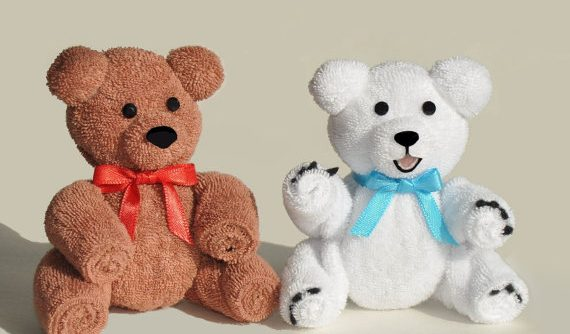 How to make a teddy from a towel