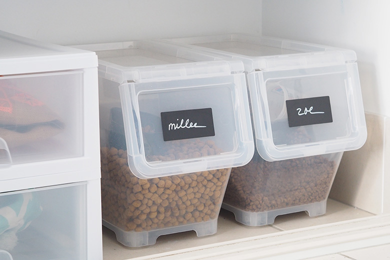 I use labels throughout my entire house, you can find them in my bathroom, kitchen, garage, laundry and even in my fridge… wherever you look really. Labels give instant organised gratification.