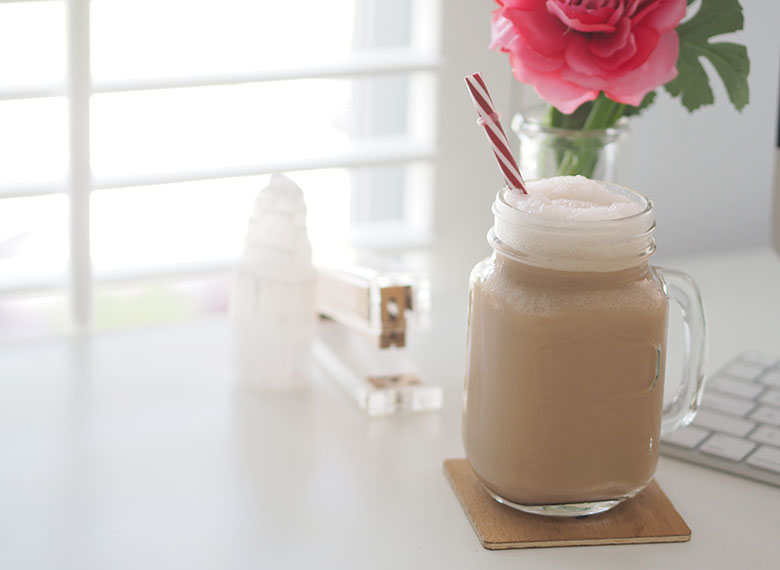 Last week we had a super hot day and I was really wanting a coffee, but the thought of a hot drink wasn't desirable. Mr 14 saw my dilemma and knows how much I love my coffee and offered to make me an Ice Coffee Frappe!
