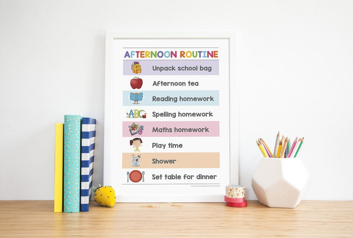 picture regarding Printable Workouts Routines called Young children Printable Timetable Charts - The Organised Housewife