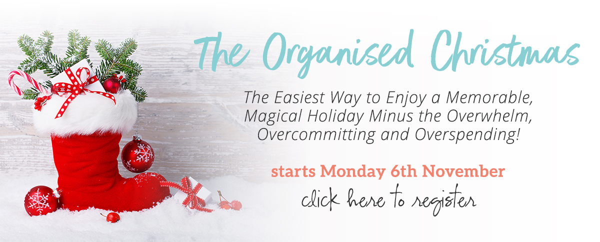 The Organised Christmas is your easy-button solution for a seriously stress-free Christmas. It gives you everything you need to know and do...so you can sit back and enjoy listening to carols or savour the sweet smells wafting from your oven...make sweet memories with your kids