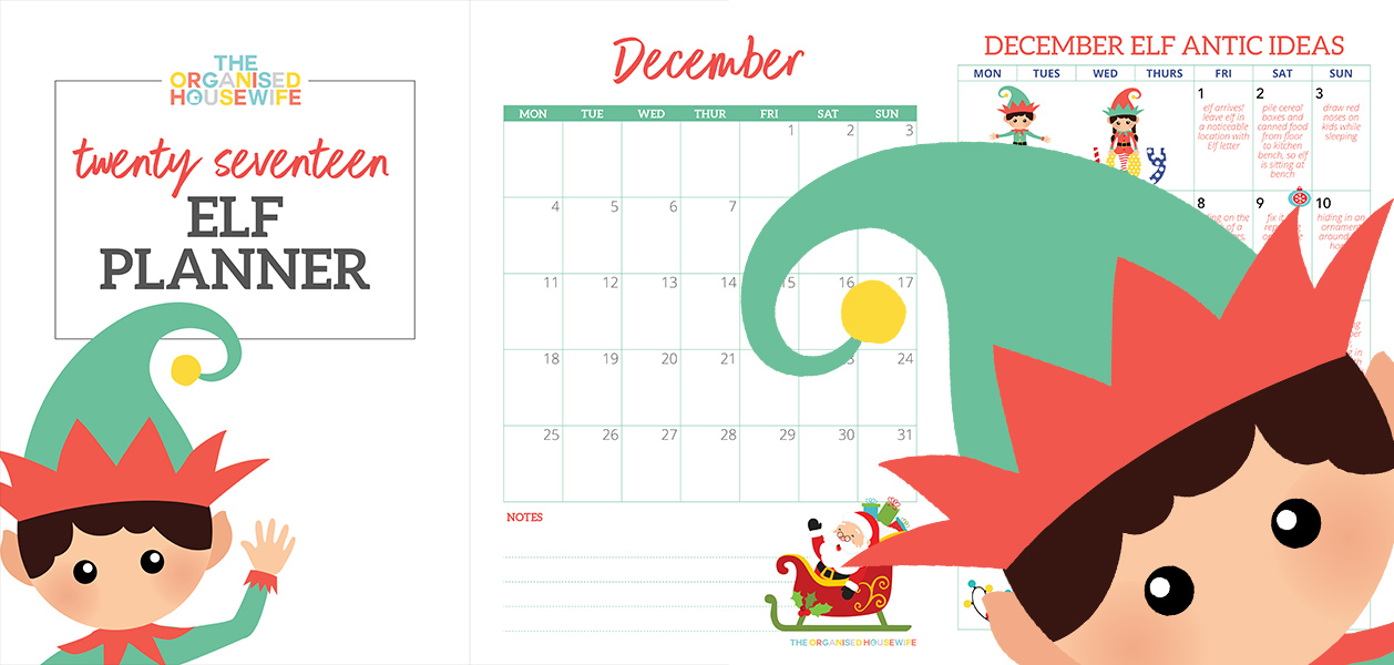 The Elf on the Shelf Calendar Planner Pages - Elf Coupon Codes