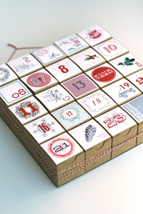 15 christmas advent calendar ideas the organised housewife countdown to christmas using a creative homemade advent calendar filled with little gifts or activities solutioingenieria Choice Image